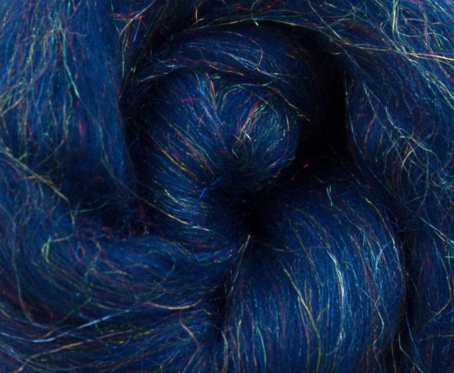 Glitz Midnight Merino Felting wool with Trilobal