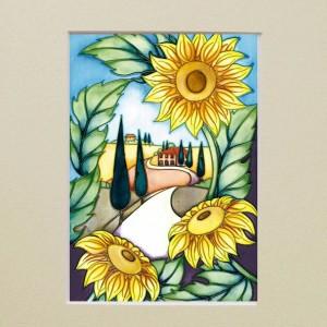 White-Road-to-Tuscany-Mounted-Moorcroft-card-10x8-B008MZ2U8U