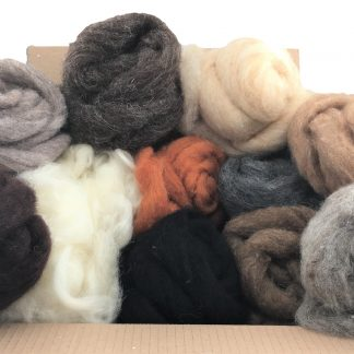 Felting wools for 3D felting but can be used for 2D